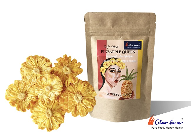 Soft-dried Pineapple queen, Cheerfarm – 50gr – NaturallyVietnam